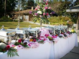 Delicious Buffet Food At A Wedding
