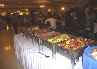 Buffet Displayed At A Wedding