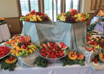 Fresh Fruits Served At At An Event