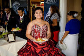 Girl In A Beautiful Gown At Quinceañera Event – 2